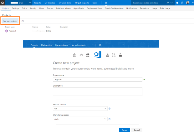 agile-vsts-new-project