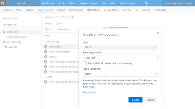 agile-vsts-repositories