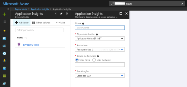 azure-application-insights-novo-diretorio