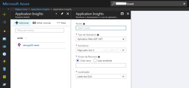 azure-application-insights-novo-diretorio