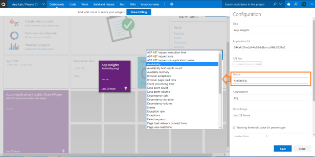 vsts-widget-app-insights-configuration